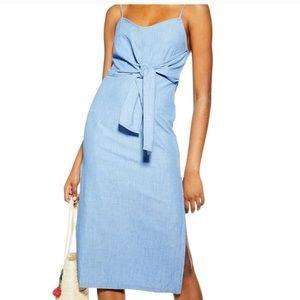 TOP SHOP Denim Tie Dress Size 4